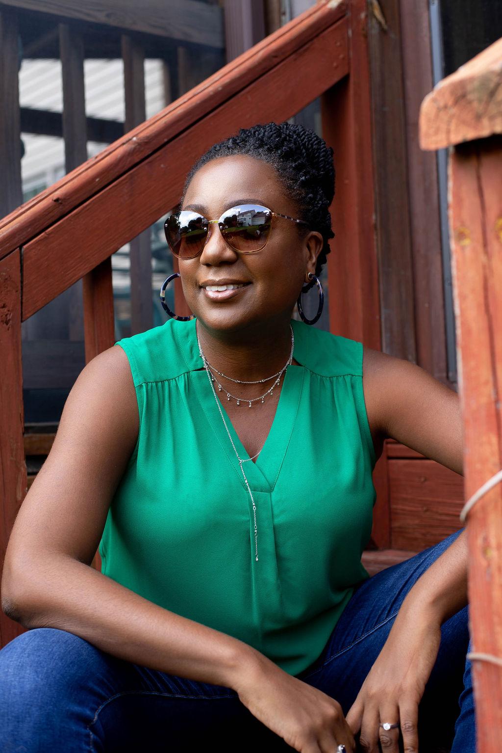 renee_hughes_green_blouse_shades
